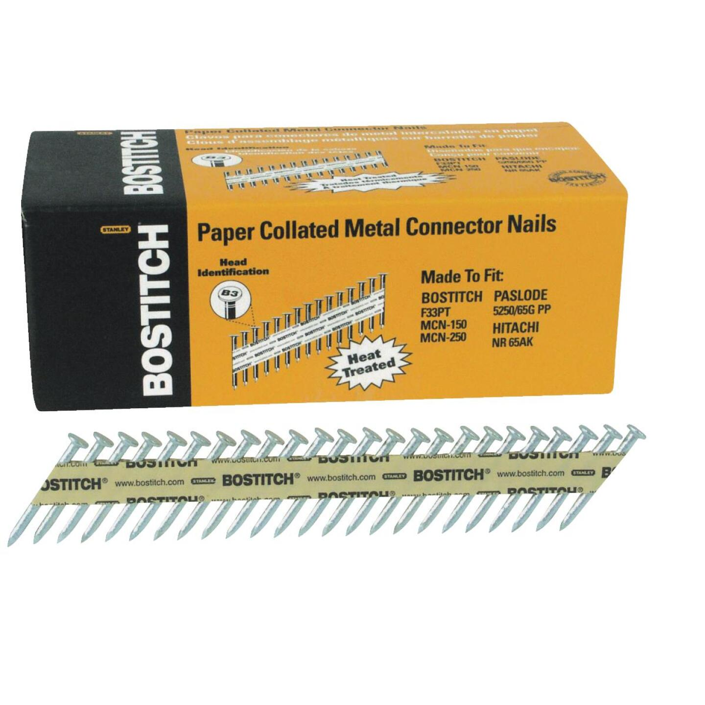 Bostitch 35 Degree Paper Tape Hot-Dipped Galvanized MCN Connector Nail, 1-1/2 In. x .131 In. (1000 Ct.) Image 1