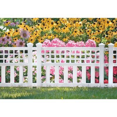 Suncast 20 1/2 In. H x 24 In. L Resin Decorative Border Fence