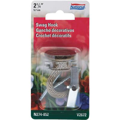 National 2-1/4 In. Antique Brass Die Cast Swag Hook