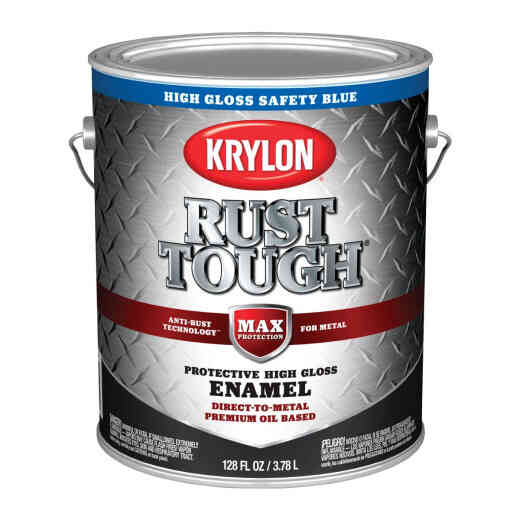 Valspar Oil-Based Gloss Anti-Rust Armor Safety Color Rust Control Enamel, Safety Blue, 1 Gal.